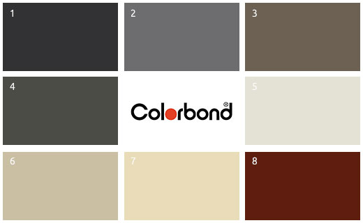 colorbond swatches