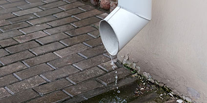 drainage water gutters